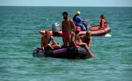 Zeci de salvamari au căutat un om dat dispărut în apele de la Eforie Nord. Unde era bărbatul
