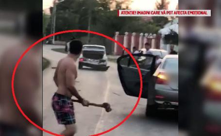 """Scandal cu bâte și topoare, în trafic: """"O să îl omoare, bă!"""""""