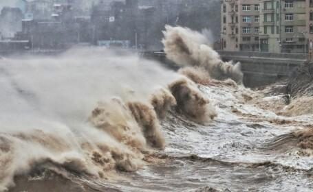 Taifunul Lekima face ravagii în China. Sunt 13 morți și 16 dispăruți. VIDEO