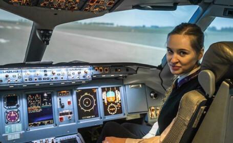 Singura femeie pilot pe curse comerciale din Rusia, oprită de poliţie la primul ei zbor