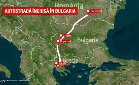 Autostrada preferată de mii de români care merg spre Grecia a fost închisă