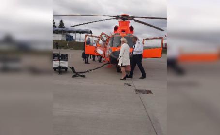 Dăncilă și doi miniștri au mers la Iași cu un elicopter privat