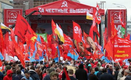 """Proteste la Moscova. Comuniștii și liberalii cer """"alegeri cinstite"""". FOTO"""