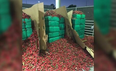 Vameșii americani, uluiți de ce au găsit într-un transport cu ardei iuți