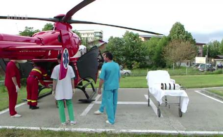 Copil transportat la spital