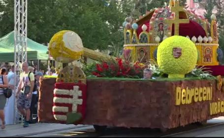 Spectaculoase care alegorice la Carnavalul Florilor. Mii de turiști au venit la festival