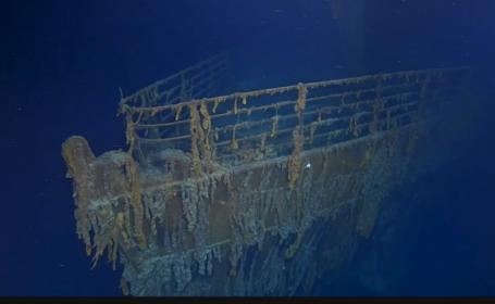 """""""Titanic revine în natură"""". Primele imagini cu epava din ultimii 15 ani"""
