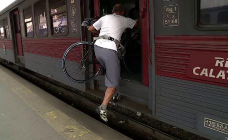 CFR are doar câteva vagoane pentru biciclişti, deşi sunt impuse de regulile europene