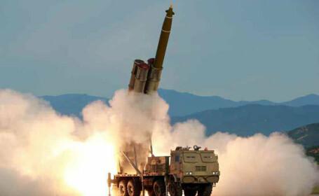 Test al unui lansator multiplu de rachete, in Coreea de Nord - 13