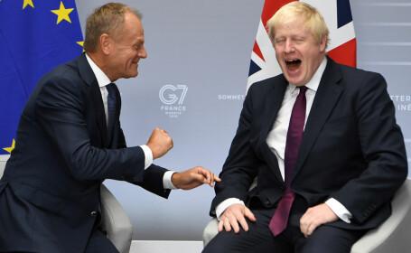 Boris Johnson si Donald Tusk