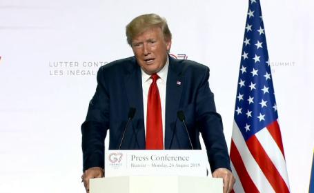 Donald Trump și-a promovat clubul de golf la summitul G7