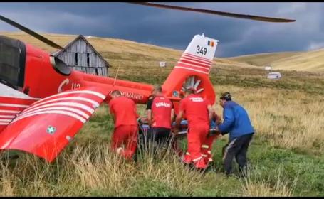 Un cioban a fost evacuat de pe munte cu elicopterul
