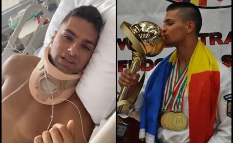 Apel pentru tânărul campion rămas paralizat după ce a sărit în piscină
