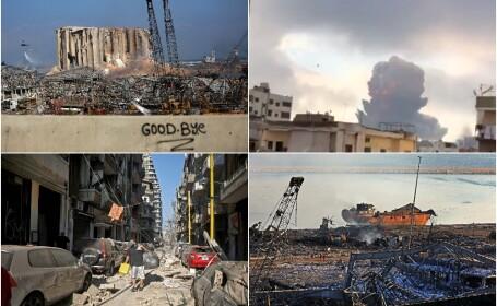 Imaginile dezastrului din Beirut. Stare de urgență în capitala Libanului după explozie