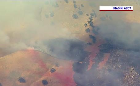 Incendii de vegetație grave în SUA. Un nou focar, izbucnit la nord de Los Angeles