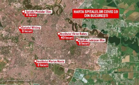 Harta spitalelor Covid din București