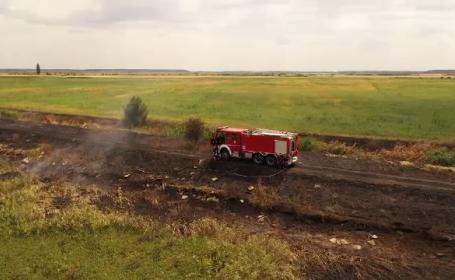 Poluare uriașă în Ilfov după incendiul de la o fostă fermă de porci. Cum a reușit proprietarul să scape nepedepsit
