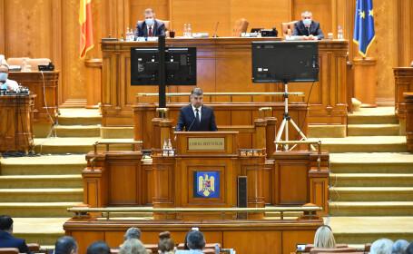 """PSD a prezentat în Parlament moțiunea """"Guvernul PNL- de la pandemie la pande-mită generalizată"""""""