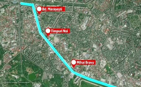 Plan pentru amenajarea Dâmboviţei, în zona Mărăşeşti - Timpuri Noi - Mihai Bravu