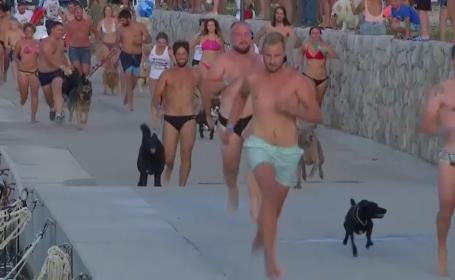 """""""Dogathlon"""" în Croația. Iubitorii de animale s-au întecut într-o cursă inedită"""