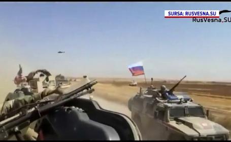 VIDEO. Momentul în care un blindat rusesc lovește unul american, în Siria