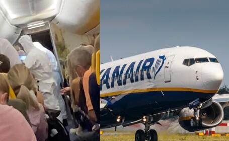 VIDEO. Un bărbat infectat cu coronavirus, escortat dintr-un avion care se pregătea să decoleze