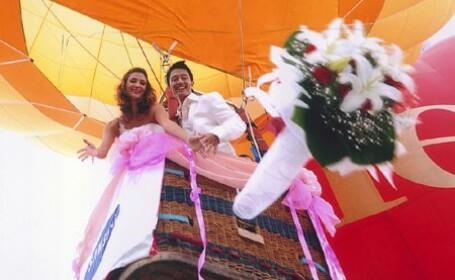 Nunta la inaltime pentru un cuplu din Florida