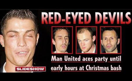 Diavolii rosii, in frunte cu Cristiano Ronaldo, ametiti de alcool