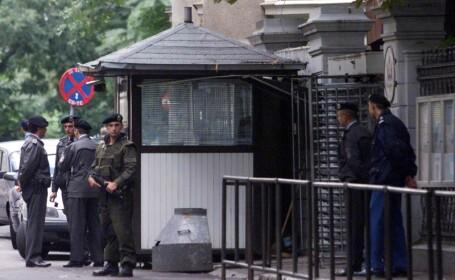 Atentat cu ghiveci in Bucuresti! O masina a ambasadei SUA, avariata!
