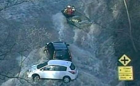 Inundatie in centrul Los Angeles-ului, dupa ce o conducta de apa s-a spart