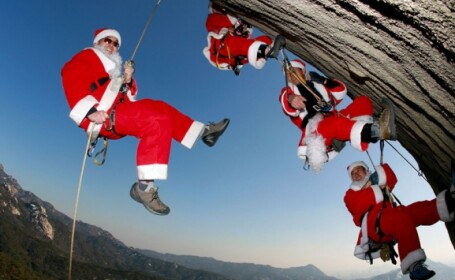 La Timisoara, Mos Craciun e anul acesta alpinist!