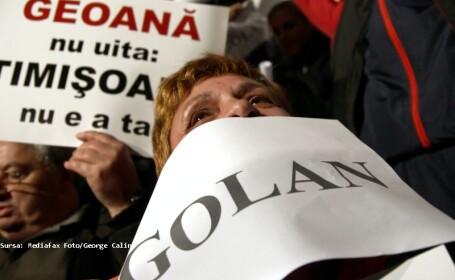 Protest anti-Geoana in Piata Universitatii