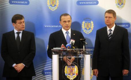 Klaus Johannis, Mircea Geoana si Crin Antonescu