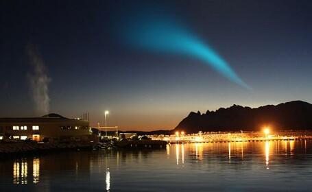 Misterioasa spirala din Norvegia, explozia unei rachete rusesti?