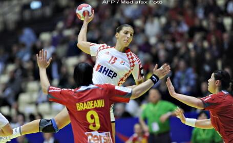 Romania-Croatia, scor 31-22, in grupa I la CE de handbal feminin