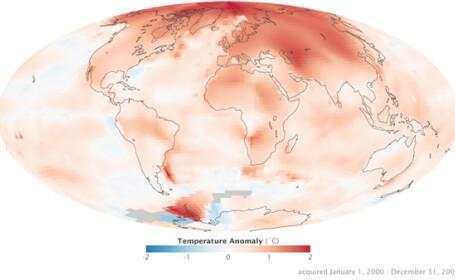 Harta incalzirii globale! Cum a evoluat clima din 1880 si pana acum. FOTO
