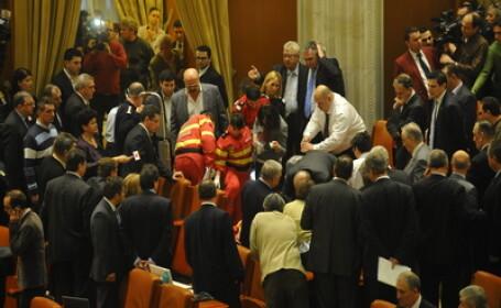 Incident in Parlament
