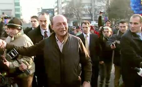 Traian Basescu la Primaria Sectorului 2, de Ziua Nationala