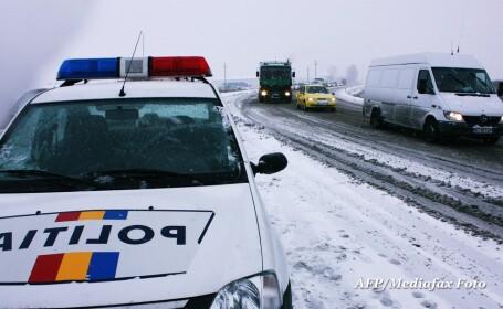 Iarna pe drum, politia