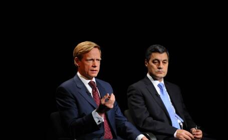 Steven van Groeningen, presedintele Raiffeisen Bank si Stere Farmache, presedintele Bursei de Valori Bucuresi