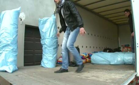 Tone de detergent contrafacut, vandut sub un brand celebru, au fost confiscate in Capitala