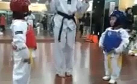 VIDEO. Viral pe internet. Vezi aici cel mai neasteptat meci de taekwondo