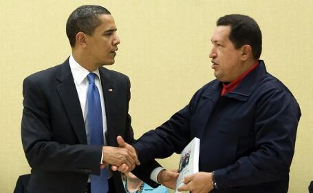 Barack Obama si Hugo Chavez