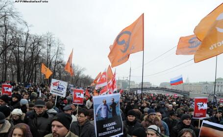 Opozitia rusa: 120.000 de oameni au participat la protestele de la Moscova. Politia: Doar 29.000