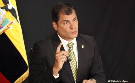 Presedintele Ecuadorului, Rafael Correa