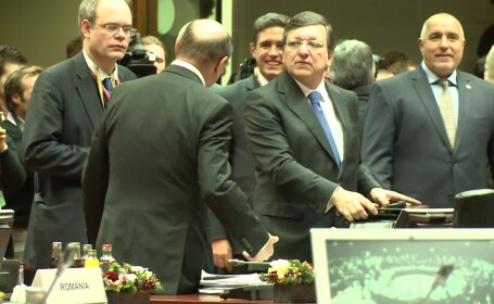 Imagini de la Bruxelles. Traian Basescu discuta cu liderii UE, la Summitul PPE si Consiliul European