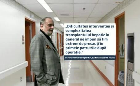 Dinu Patriciu a fost operat cu succes la Milano.Omul de afaceri se reface dupa transplantul de ficat