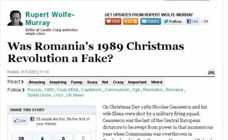 Huffington Post:Romania a fost condusa din 1989 de \