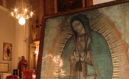 credinciosi, icoana Fecioara Maria de Guadalupe