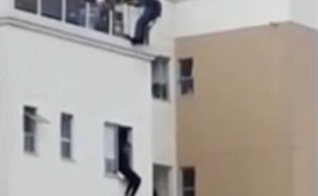 Operatiune de salvare in Brazilia. Un sinucigas este oprit intr-un mod inedit. VIDEO